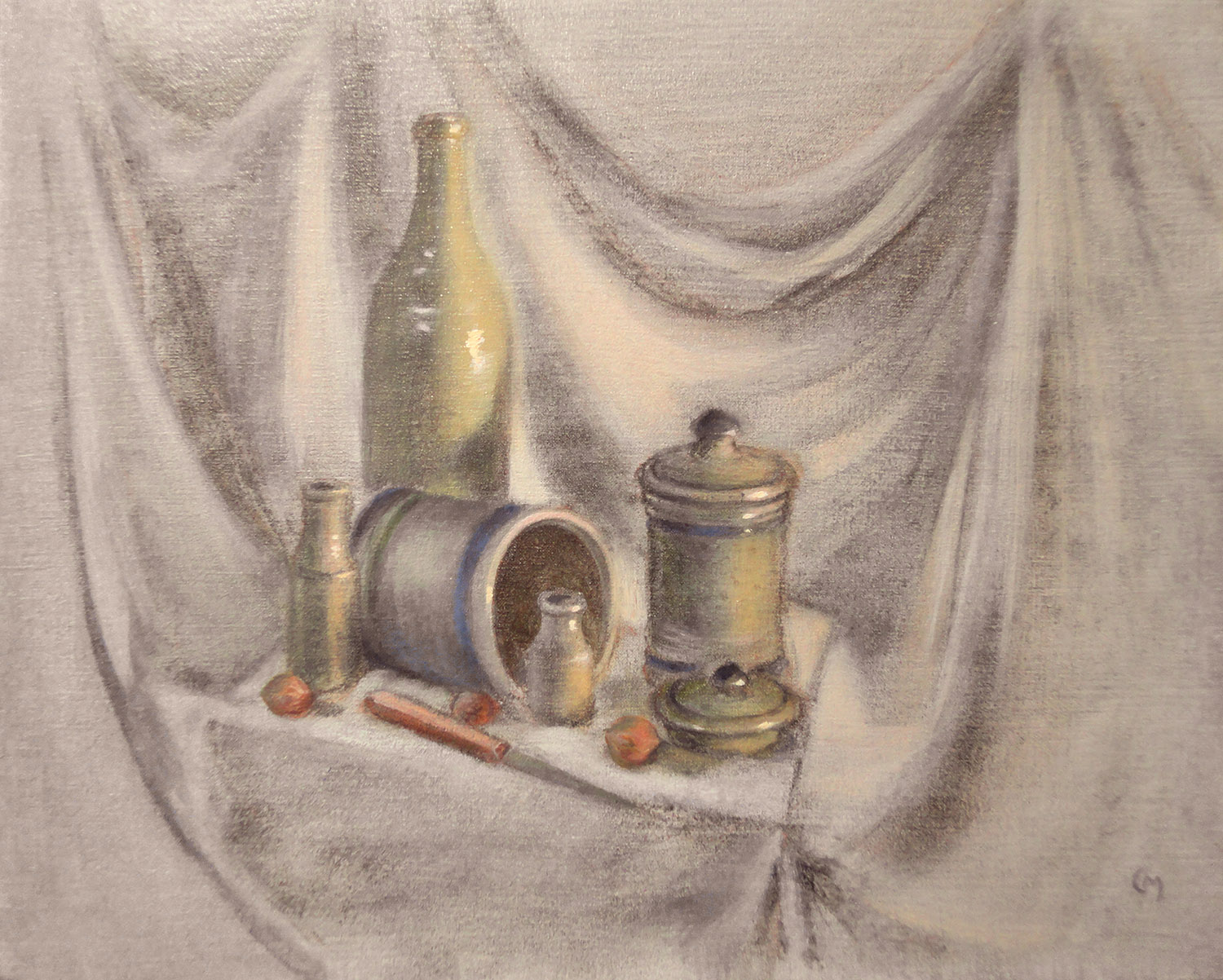Atelier des fontaines cours natures mortes la technique mixte la mani re flamande 2 - Dessin de nature morte ...