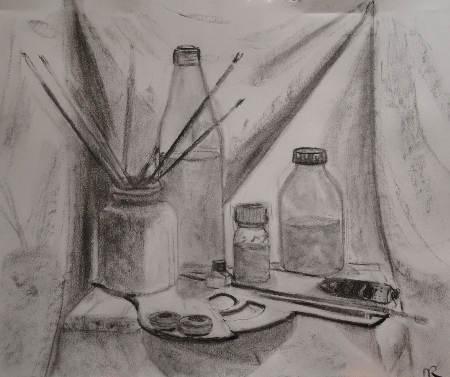 Atelier des fontaines cours natures mortes la technique mixte la mani re flamande 1 - Dessin de nature morte ...