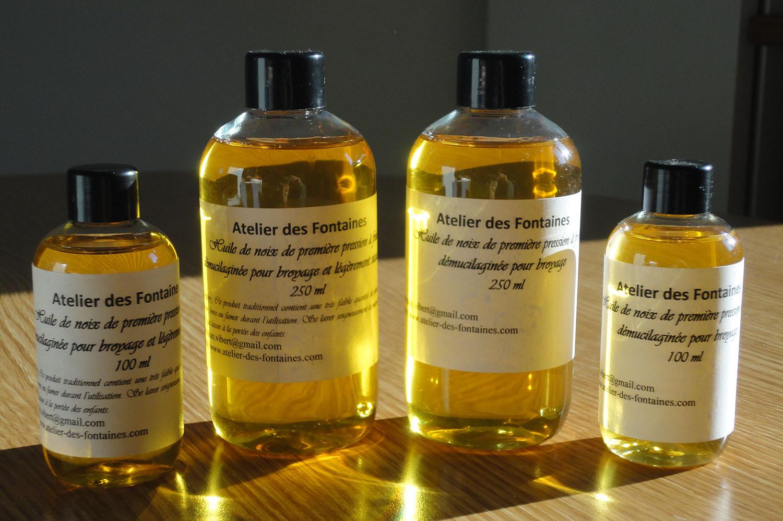 huile de noix siccative