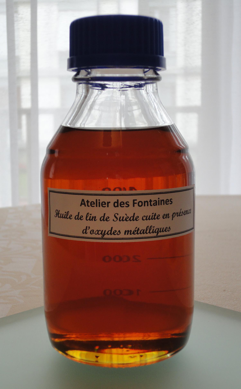 atelier des fontaines description des produits les huiles de lin cuites. Black Bedroom Furniture Sets. Home Design Ideas